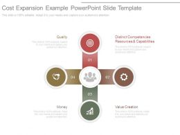 Cost Expansion Example Powerpoint Slide Template