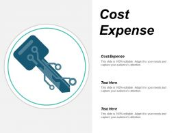 Cost Expense Ppt Powerpoint Presentation Visual Aids Background Images Cpb