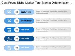 Cost Focus Niche Market Total Market Differentiation Focus Customer Profile