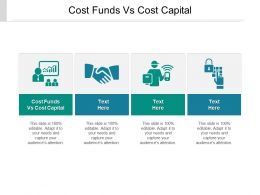 Cost Funds Vs Cost Capital Ppt Powerpoint Presentation Gallery Slideshow Cpb