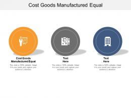 cost goods manufactured equal ppt powerpoint presentation infographic template introduction cpb