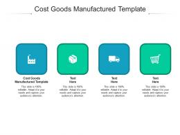 Cost Goods Manufactured Template Ppt Powerpoint Presentation Show Template Cpb
