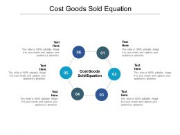 Cost Goods Sold Equation Ppt Powerpoint Presentation Styles Samples Cpb