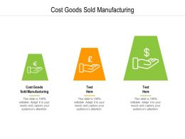 Cost Goods Sold Manufacturing Ppt Powerpoint Presentation Show Graphics Cpb