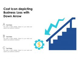 Cost Icon Depicting Business Loss With Down Arrow