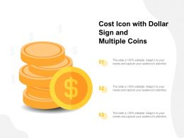 Cost Icon With Dollar Sign And Multiple Coins