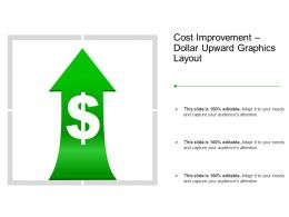 Cost Improvement Dollar Upward Graphics Layout