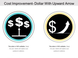 Cost Improvement Dollar With Upward Arrow