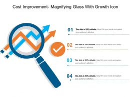 Cost Improvement Magnifying Glass With Growth Icon