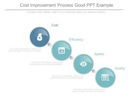 Cost Improvement Process Good Ppt Example