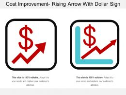 Cost Improvement Rising Arrow With Dollar Sign