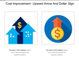 Cost Improvement Upward Arrow And Dollar Sign