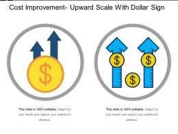 Cost Improvement Upward Scale With Dollar Sign