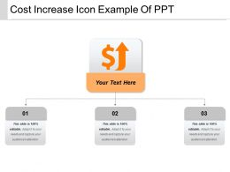 Cost Increase Icon Example Of Ppt