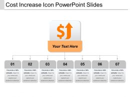 Cost Increase Icon Powerpoint Slides
