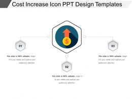 Cost Increase Icon Ppt Design Templates