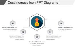 Cost Increase Icon Ppt Diagrams