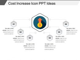 Cost Increase Icon Ppt Ideas