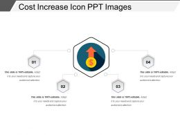 Cost Increase Icon Ppt Images