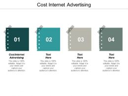 Cost Internet Advertising Ppt Powerpoint Presentation Gallery Graphics Template Cpb