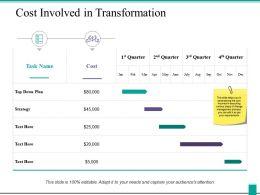 Cost Involved In Transformation Ppt Powerpoint Presentation Icon Portfolio