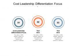 Cost Leadership Differentiation Focus Ppt Powerpoint Presentation Portfolio Gallery Cpb