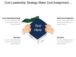 Cost Leadership Strategy Make Cost Assignment Resourcing Structure