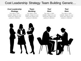 Cost Leadership Strategy Team Building Generic Competitive Strategies Cpb