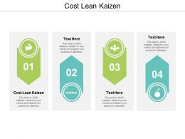 Cost Lean Kaizen Ppt Powerpoint Presentation Show Example Introduction Cpb