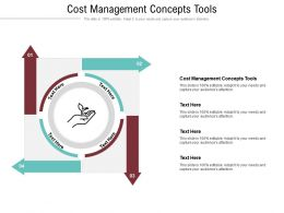Cost Management Concepts Tools Ppt Powerpoint Presentation Inspiration Structure Cpb
