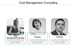 Cost Management Consulting Ppt Powerpoint Presentation Pictures Slide Download Cpb
