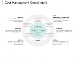 Cost Management Containment Ppt Powerpoint Presentation Slides Background Cpb