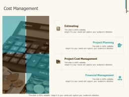Cost Management Financial Ppt Powerpoint Presentation Gallery Outfit