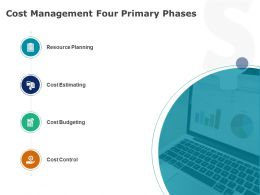 Cost Management Four Primary Phases Planning Ppt Powerpoint Presentation Pictures Example