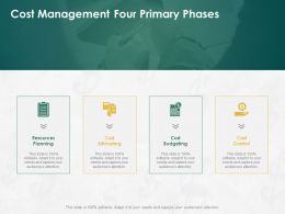 Cost Management Four Primary Phases Ppt Powerpoint Presentation