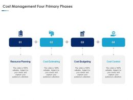 Cost Management Four Primary Phases Ppt Powerpoint Presentation Styles
