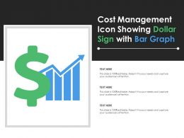 Cost Management Icon Showing Dollar Sign With Bar Graph