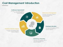 Cost Management Introduction Ppt Powerpoint Presentation Infographics