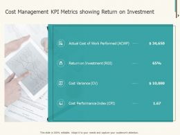 Cost Management KPI Metrics Showing Return On Investment Ppt Rules