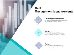 Cost Management Measurements Ppt Powerpoint Presentation Gallery Deck