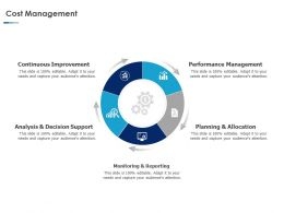 Cost Management Performance Ppt Powerpoint Presentation Example