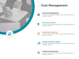 Cost Management Planning Allocation Ppt Powerpoint Presentation Layouts Introduction