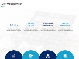 Cost Management Planning Ppt Powerpoint Presentation Gallery