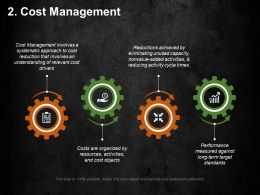 Cost Management Ppt Summary Graphics Example