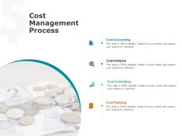Cost Management Process Cost Planning Ppt Powerpoint Presentation Styles Portrait