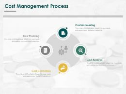 Cost Management Process Ppt Powerpoint Presentation Inspiration Elements