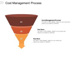 Cost Management Process Ppt Powerpoint Presentation Layouts Slides Cpb