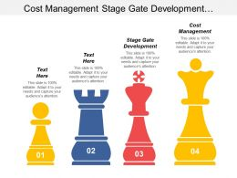 Cost Management Stage Gate Development Inventory Management Technique Cpb