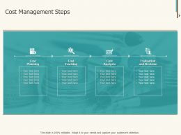 Cost Management Steps Ppt Powerpoint Presentation Infographics Tips