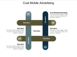 Cost Mobile Advertising Ppt Powerpoint Presentation Outline Good Cpb